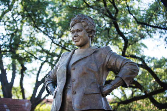Statue of civil rights champion Barbara Jordan on UT Campus