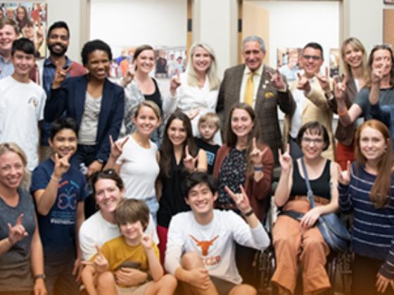 Announcing the establishment of the Arthur M. Blank Center for Stuttering Education and Research at UT Austin