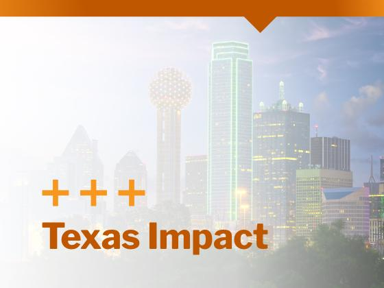 Skyline of Dallas in North Texas