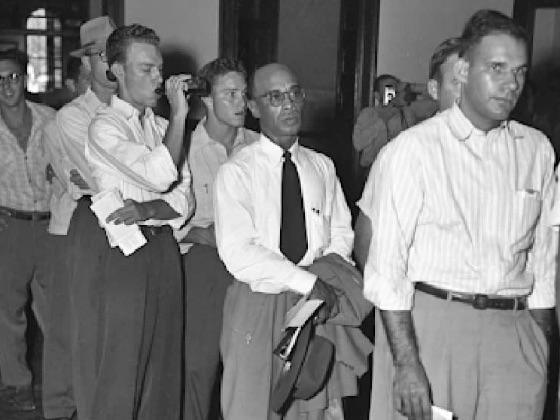 Heman Sweatt registering for courses at the UT Law School in 1950