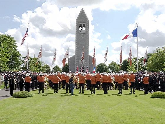 Longhorn Alumni Band in Normandy