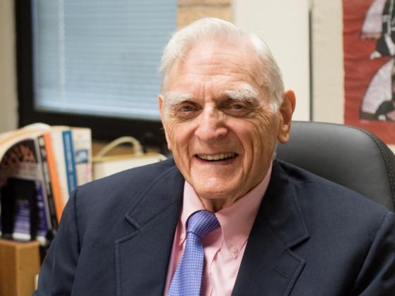 Professor John Goodenough won a Nobel Peace Prize in Chemisty for his work with lithium batteries.