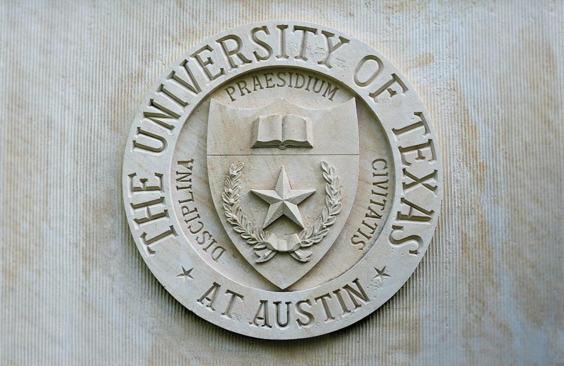 University of Texas at Austin seal in stone