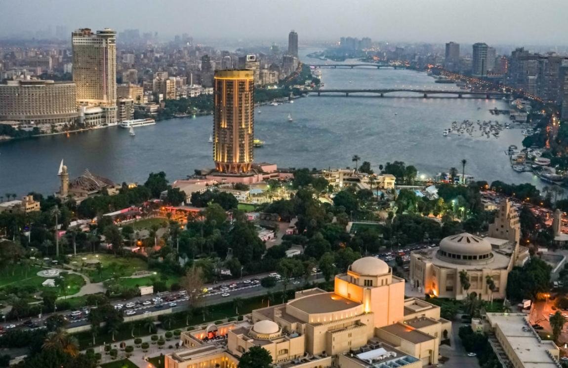 The Nile River in Cairo, Egypt.