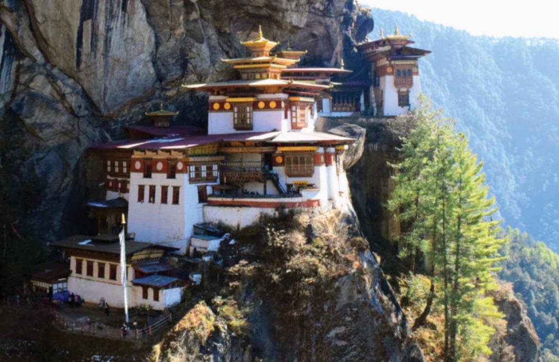 Monastery on a mountain in Paro, Bhutan