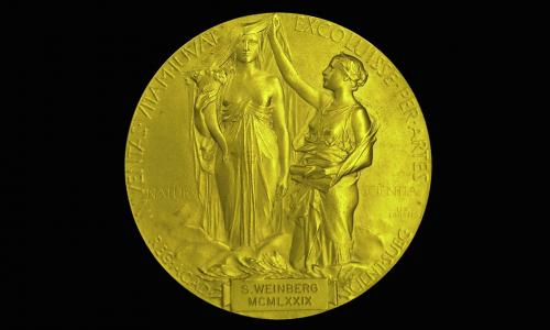 Nobel Prize medal of Steven Weinberg, winner of Nobel Prize for Physics in 1979