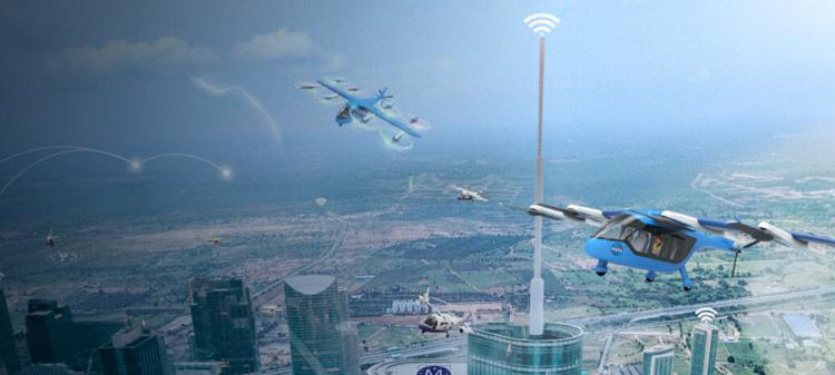 Rendering of unmanned aerial vehicles over earth