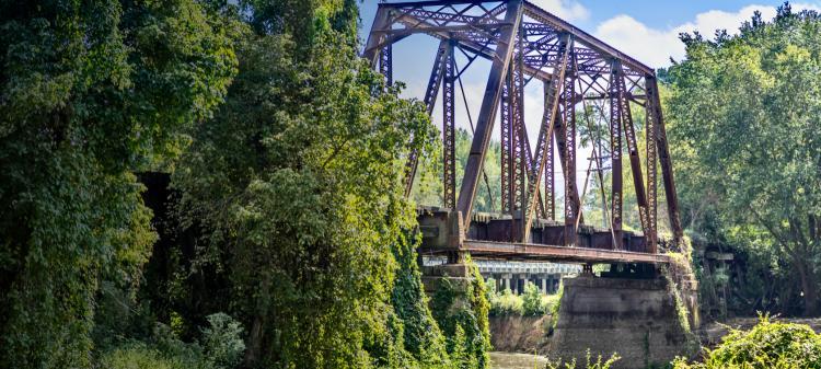 Railroad bridge in East, Texas