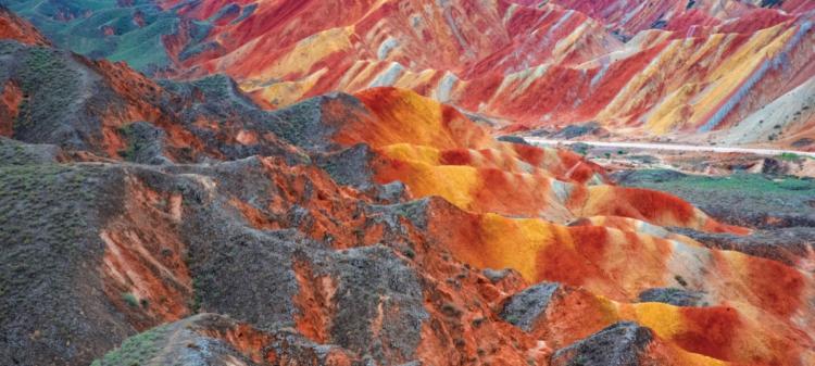Colorful mountains of Zhangye Danxia National Geopark in Zhangye, China
