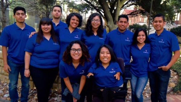 Group photo of students involved with Latinx Community Affairs
