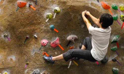 UT Recreational Sports climbing wall