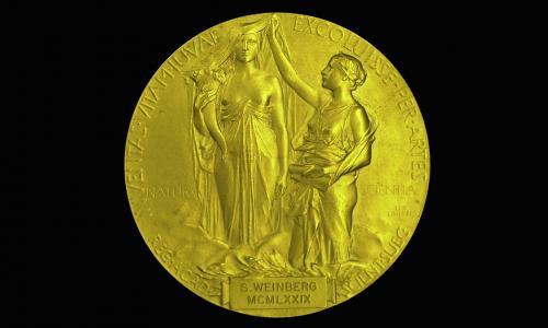 Nobel Prize medal of Steven Weinberg, winner of Nobel Prize for Physics in 1979