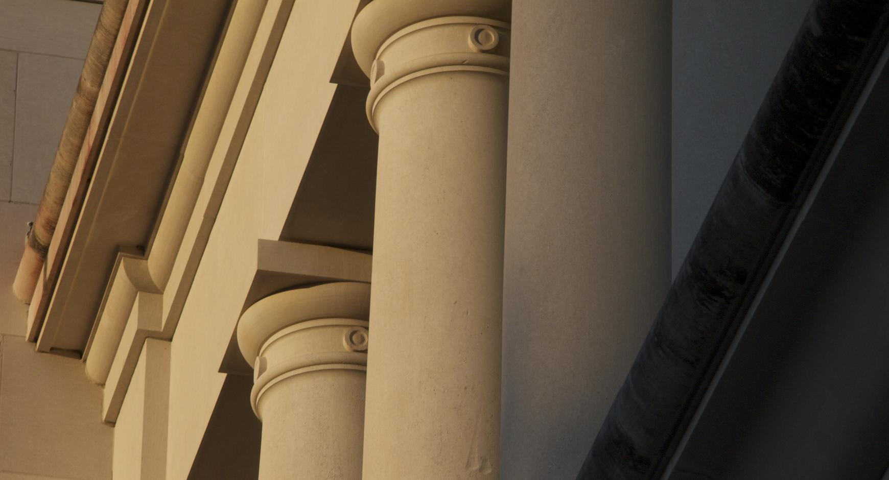 Columns on the Main Building