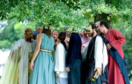 Shakespeare at Winedale outdoor performance